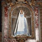Sainte Vierge de Verdelais - manteau blanc et bleu
