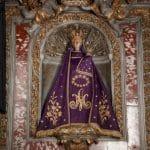 Sainte Vierge de Verdelais - manteau violet