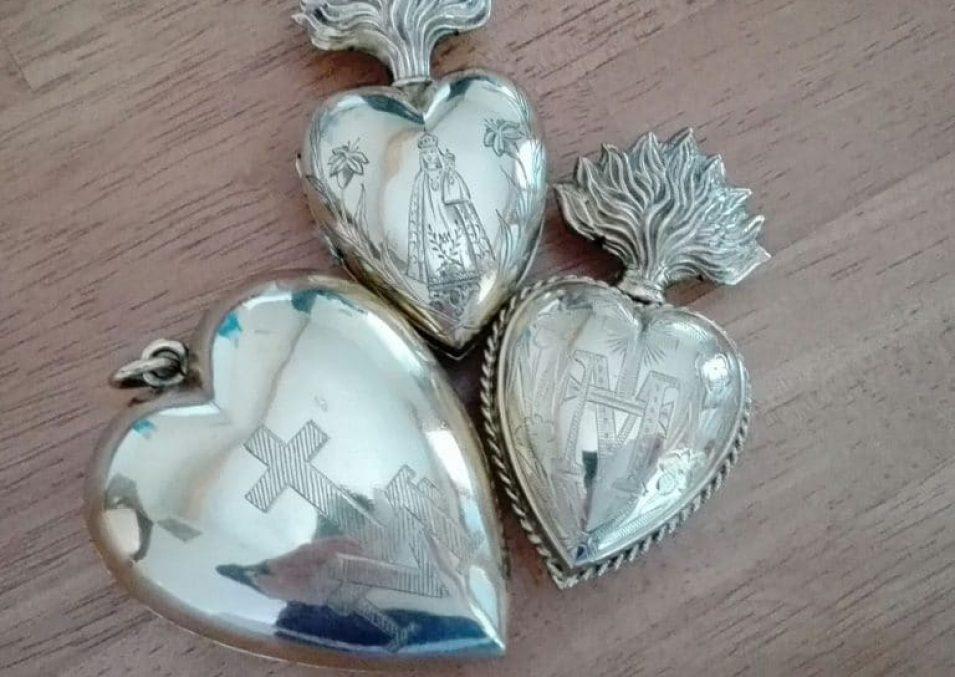 Coeurs en argent
